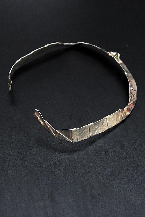 Collier Torque - Péridot & Argent - création unique